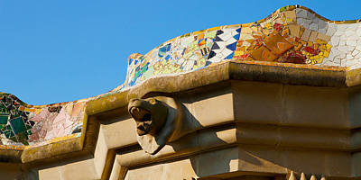 Mosaic Photograph - Architectural Detail Of A Building by Panoramic Images