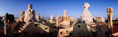 Built Structure Photograph - Architectural Details Of Rooftop by Panoramic Images