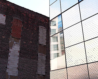 Architectural Juxtaposition On The High Line Print by Rona Black