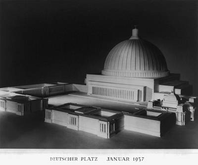 Nazi Party Photograph - Architectural Model Of Berlin by Everett