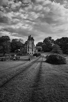 Mansions Photograph - Architectural Treasure Bw by Susan Candelario