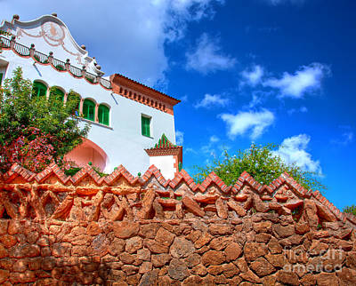 Horizontal Photograph - Architecture In Park Guell by Michal Bednarek