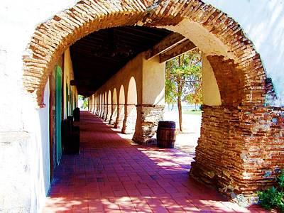 Mission San Juan Bautista Photograph - Archway At Mission San Juan Bautista  by Peggy Leyva Conley