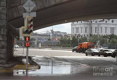 Moscow Skyline Photograph - Archway Of Greater Stone Bridge In Moscow I by Anna Yurasovsky