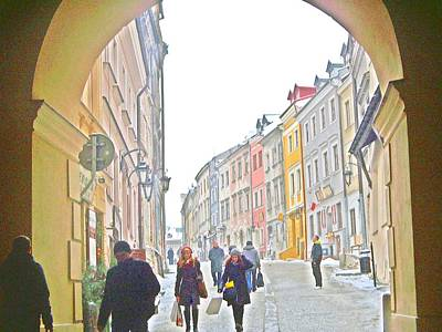 Archway Wall Into Lublin / Old City Print by Rick Todaro