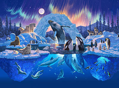 Dolphin Photograph - Arctic Harmony by Chris Heitt