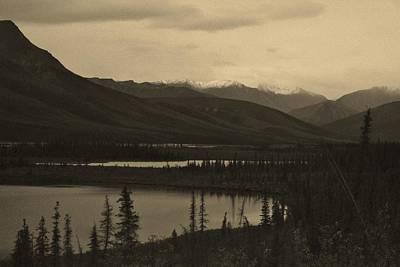 Arctic Mountain Gloom Print by David Broome