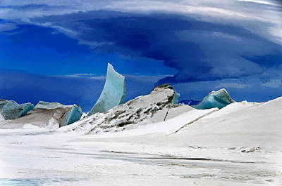 Arctic Pressure Ridge Print by David Blank