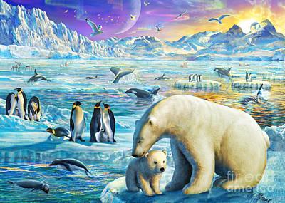 Arctic Digital Art - Arctic Sundown by Adrian Chesterman