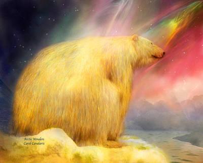 Bear Mixed Media - Arctic Wonders by Carol Cavalaris