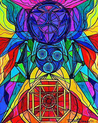 Arcturian Conjunction Grid Print by Teal Eye  Print Store