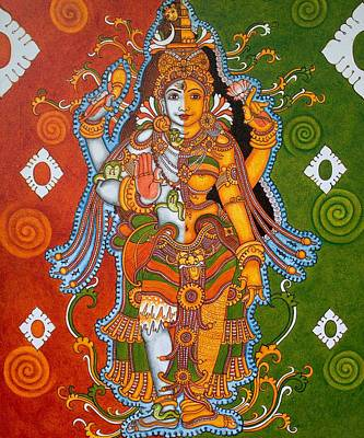 Traditional kerala mural paintings for sale for Asha mural painting