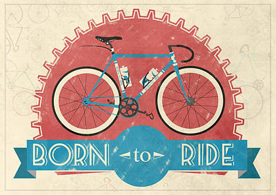 Cycling Digital Art - Are You Born To Ride Your Bike? by Andy Scullion
