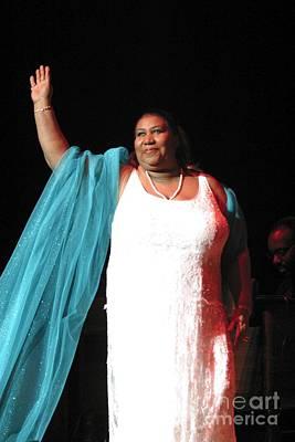 Queen Photograph - Aretha Franklin by Concert Photos