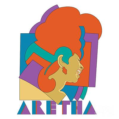 Aretha Franklin No.04 Print by Caio Caldas