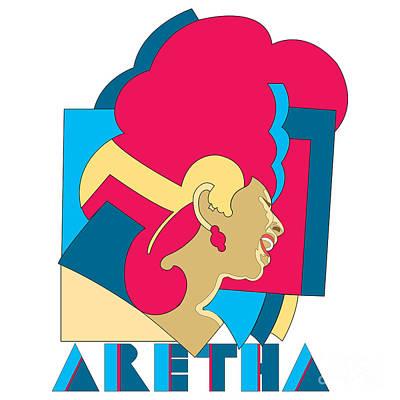 Aretha Franklin No.06 Print by Caio Caldas