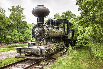 Argent Photograph - Argent Lumber Company Engine No. 4 - Antique Steam Locomotive by Gary Heller