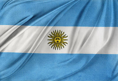Argentinian Flag Print by Les Cunliffe