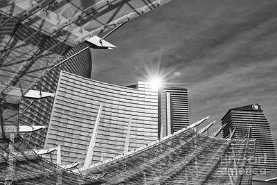 Aria Photograph - Aria Sun - Aria Resort And Casino At Citycenter In Las Vegas by Jamie Pham