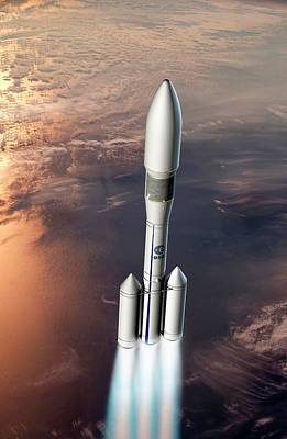 Ariane 6 Rocket Launch Print by European Space Agency/d. Ducros