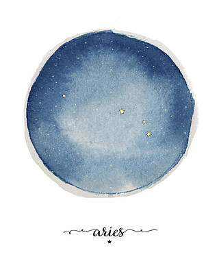 Zodiac Painting - Aries Circle by Amy Cummings
