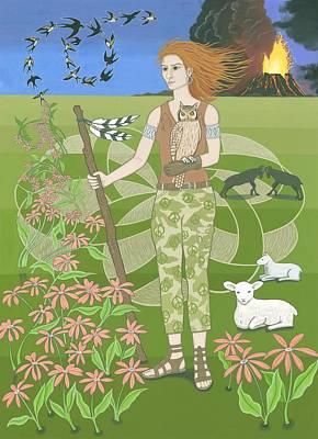 Aries Print by Karen MacKenzie