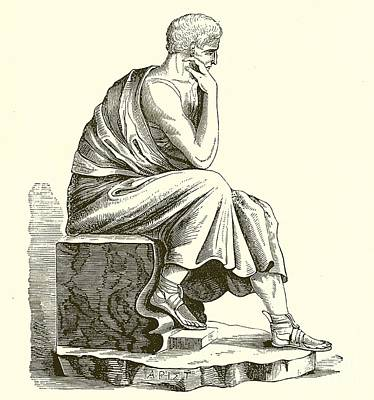 Pen Drawing - Aristotle by English School