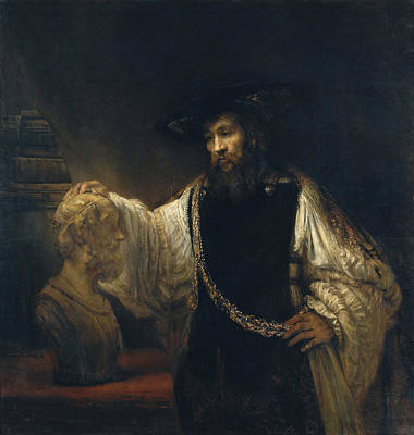 Aristotle Painting - Aristotle With A Bust Of Homer by Rembrandt