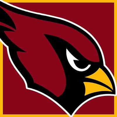 Icon Mixed Media - Arizona Cardinals by Tony Rubino