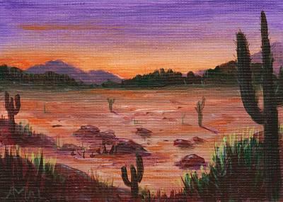 Arizona Desert Print by Anastasiya Malakhova