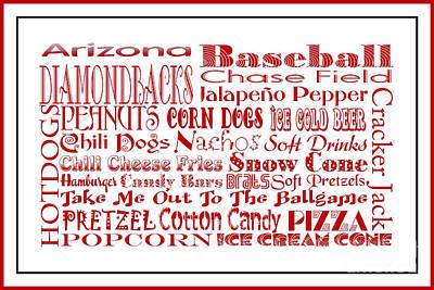 Diamondback Digital Art - Arizona Diamondbacks Game Day Food 3 by Andee Design