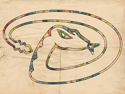 Diamondback Painting - Arizona Diamondbacks Logo Vintage by Florian Rodarte