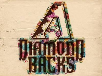 Diamondback Painting - Arizona Diamondbacks Poster Vintage by Florian Rodarte