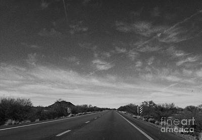 Asphalt Digital Art - Arizona Highway 70 West by Methune Hively