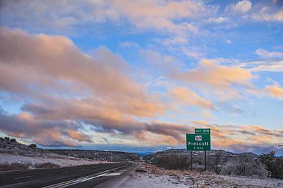 Arizona Highway Sunset Print by Anthony Citro