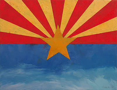 July 4th Painting - Arizona by Michael Creese