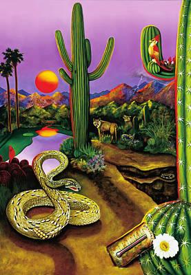Diamondback Painting - Arizona Pro Sports by William T Templeton