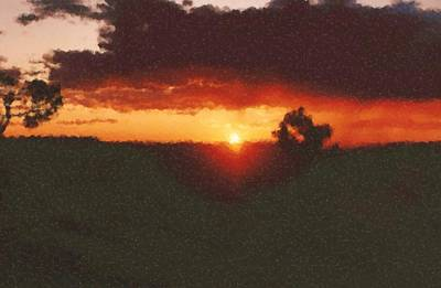 Digital Art - Arizona Sunset Painting by Asbjorn Lonvig