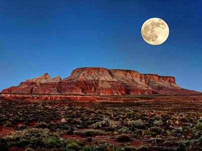 Desert Southwest Photograph - Arizona Supermoon 003 by Lance Vaughn