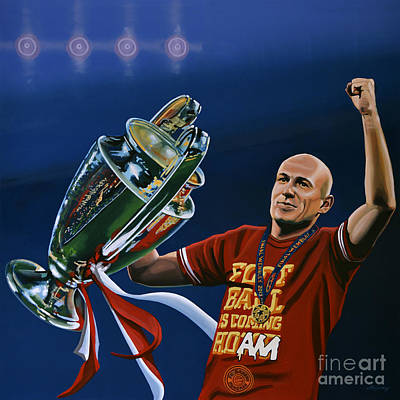 2012 Painting - Arjen Robben by Paul Meijering