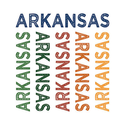 Arkansas Digital Art - Arkansas Cute Colorful by Flo Karp