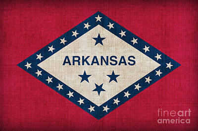 Arkansas Digital Art - Arkansas State Flag by Pixel Chimp