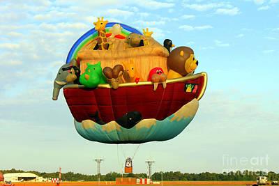 Arky Hot Air Balloon Print by Kathy  White