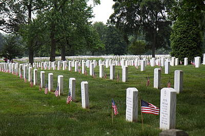 Arlington National Cemetery - 01132 Print by DC Photographer