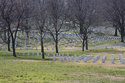 Gravestone Photograph - Arlington National Cemetery - 12124 by DC Photographer