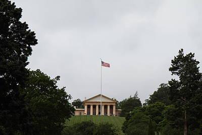 Arlington National Cemetery - Arlington House - 01131 Print by DC Photographer