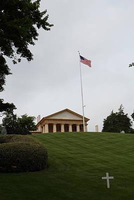 Arlington National Cemetery - Arlington House - 01132 Print by DC Photographer