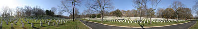 Arlington National Cemetery Panorama 2 Print by Metro DC Photography