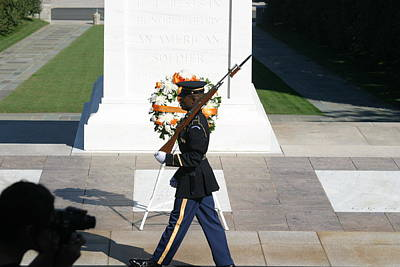 Unknown Photograph - Arlington National Cemetery - Tomb Of The Unknown Soldier - 121210 by DC Photographer