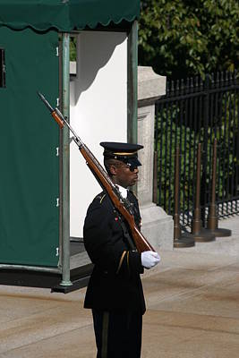 Arlington National Cemetery - Tomb Of The Unknown Soldier - 12123 Print by DC Photographer